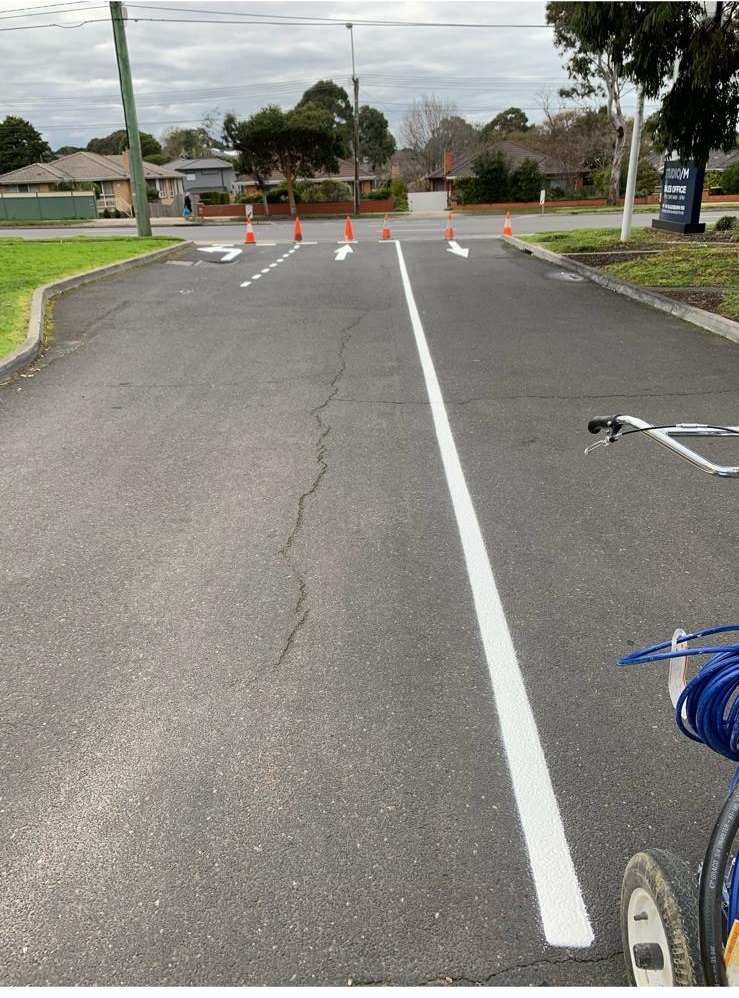 Completed Linemarking